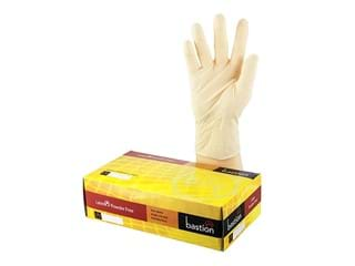 Bastion Latex Powder Free Disposable Gloves, Large, 100/Pk