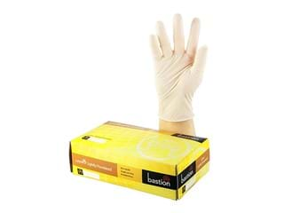 Bastion Latex Lightly Powdered Disposable Gloves, Lge100/Pk