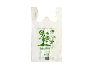 Ecopack Compostable Lge Singlet Bag, (310x170x585H)