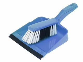 Edco Dust Pan & Brush Set - Blue